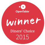 OT diner's choice badge 2015
